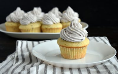 Lovely Lavender Cupcakes with Lavender Buttercream Frosting