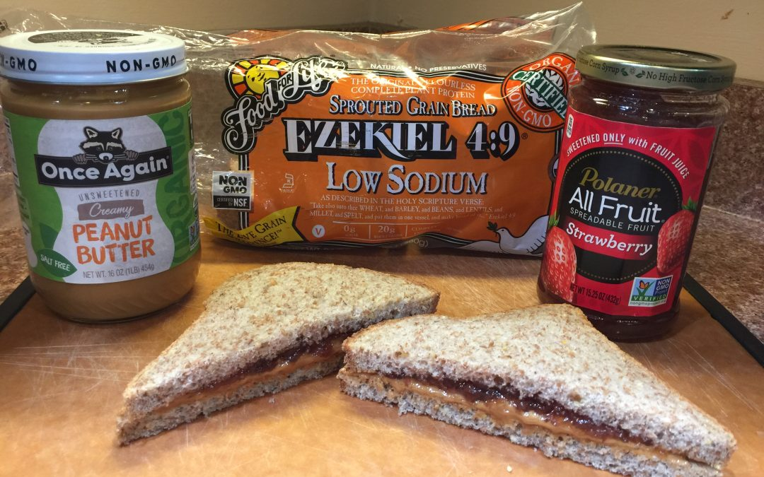 Nutritious Golf Snack: Healthy Peanut Butter & Jelly Sandwich